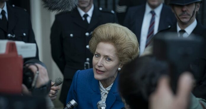 gillian anderson the crown 4 margare tatcher